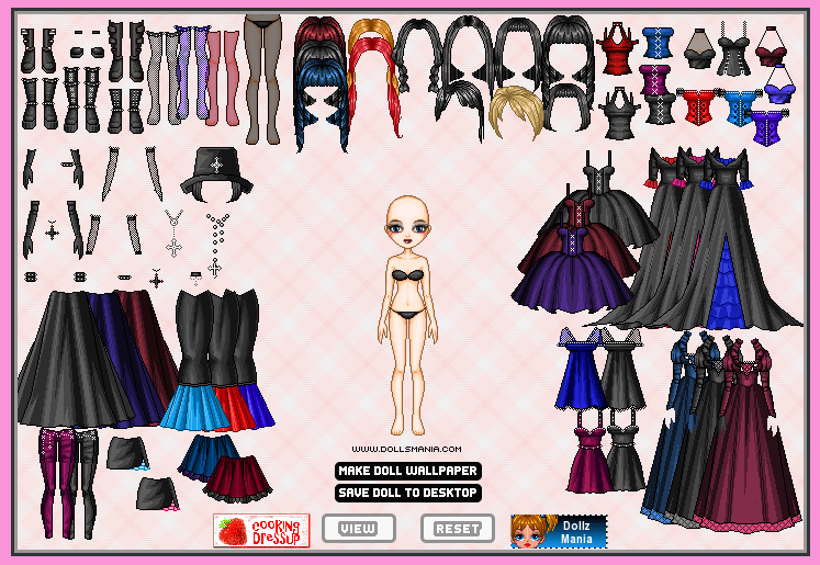Dolls Mania Stormy Gothic Dress Up